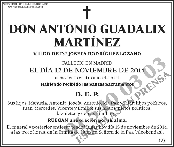 Antonio Guadalix Martínez